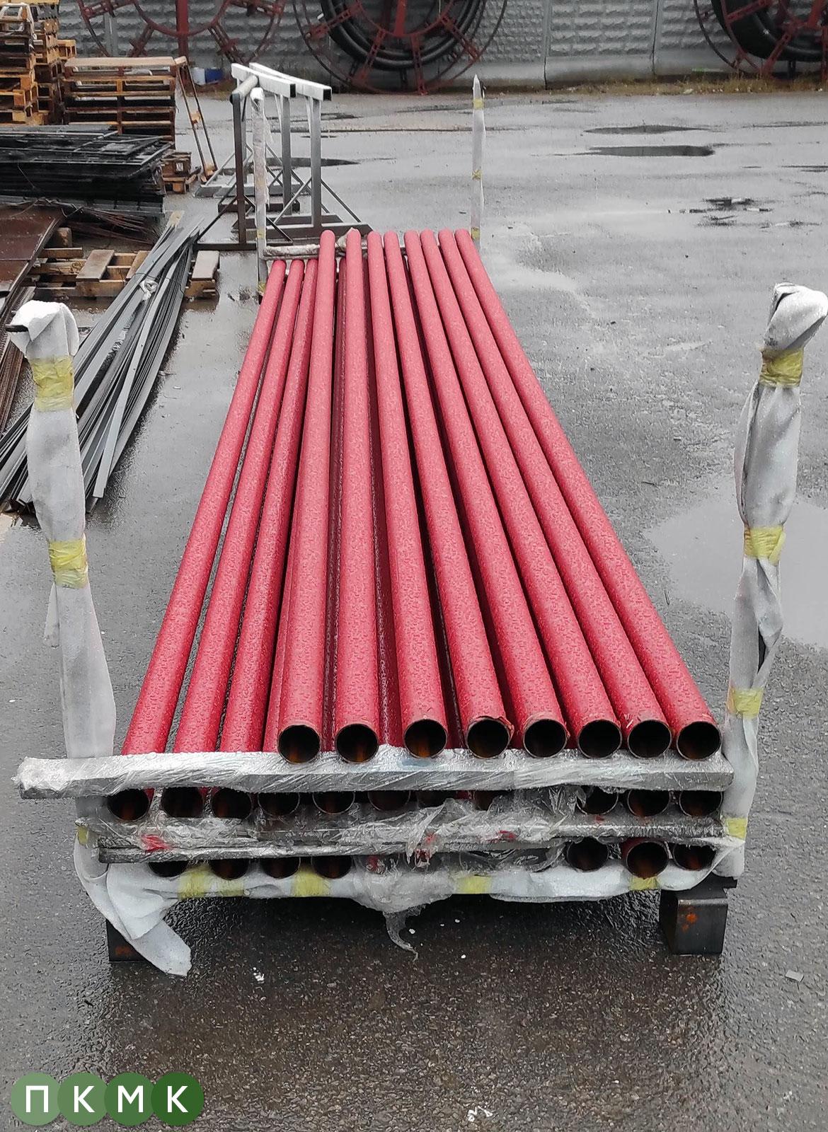 Покраска труб системы пожаротушения